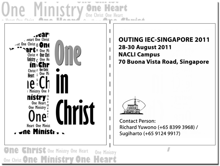 "Retret IEC Singapore: ""One In CHRIST"""